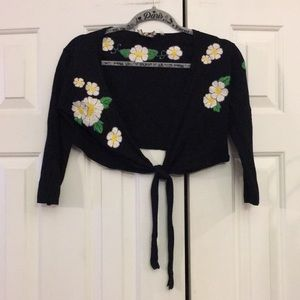 Miss Me Bolero Vintage Looking sweater cover M